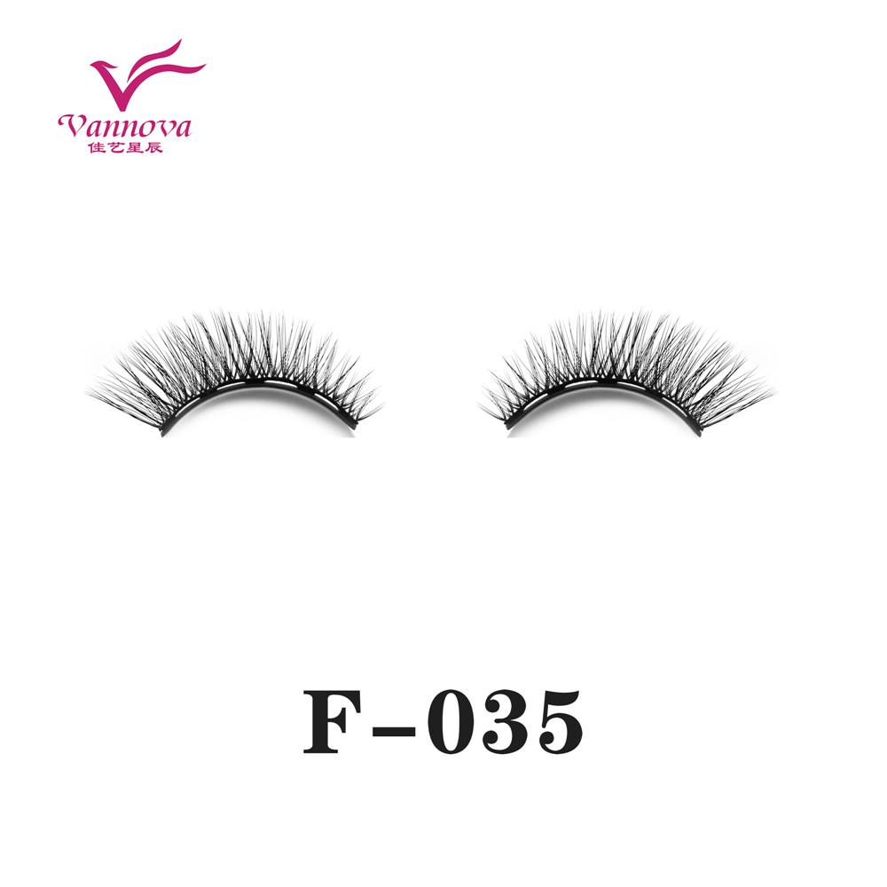 Magnetic synthetic eyelashes F-035