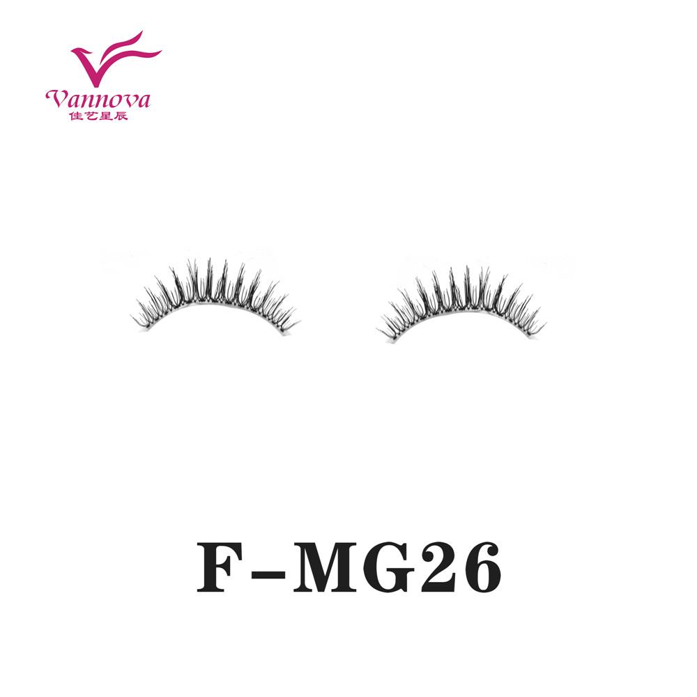 Transparent stem synthetic eyelashes F-MG26